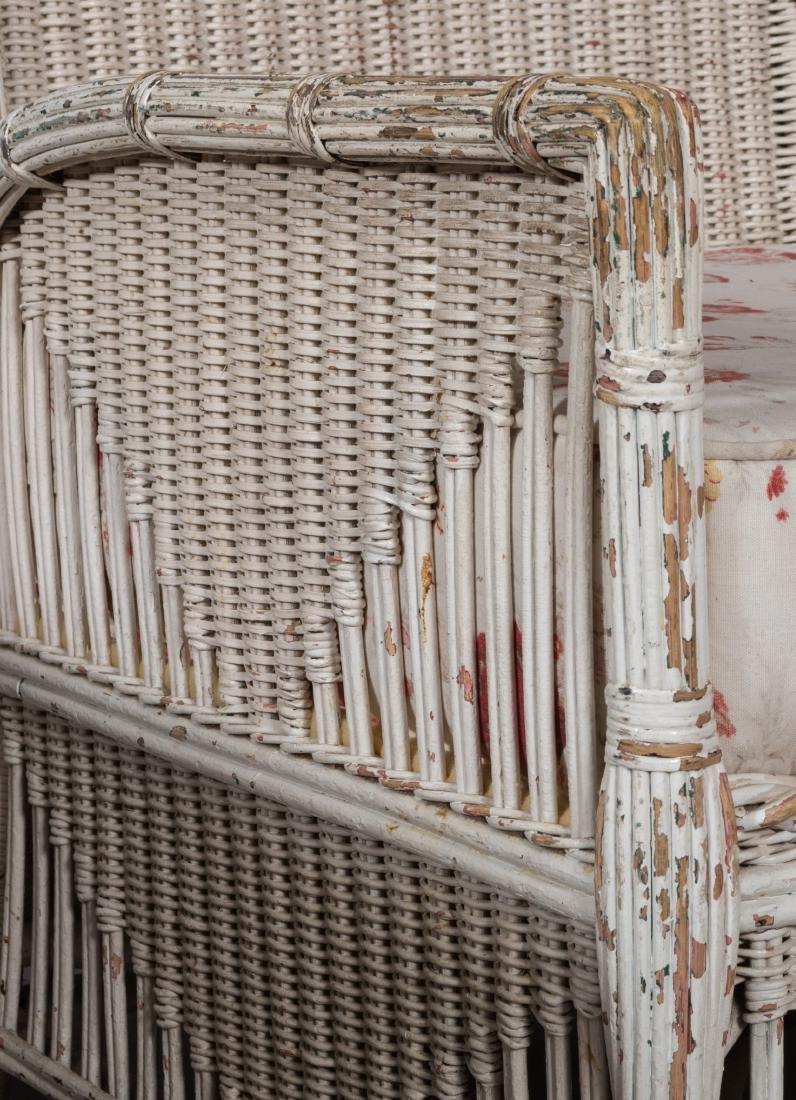 Four Piece Split Rattan and Wicker Porch Set - 8