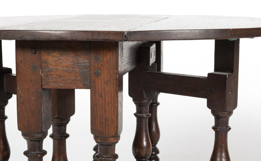 Jacobean Drop Leaf Table and Italian Table - 5