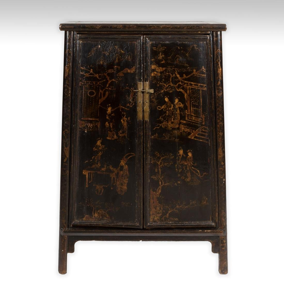 Oriental Lacquered Graduated Cabinet