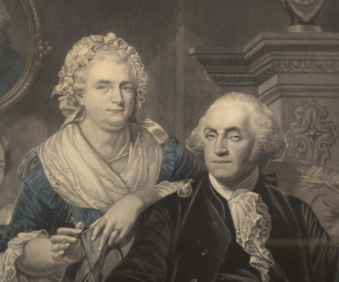 "Hand Color Engraving - ""George Washington at Home"" - 2"