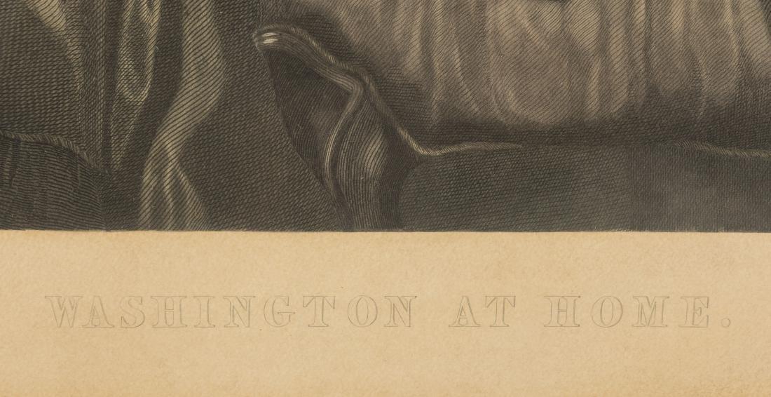 "Hand Color Engraving - ""George Washington at Home"" - 3"