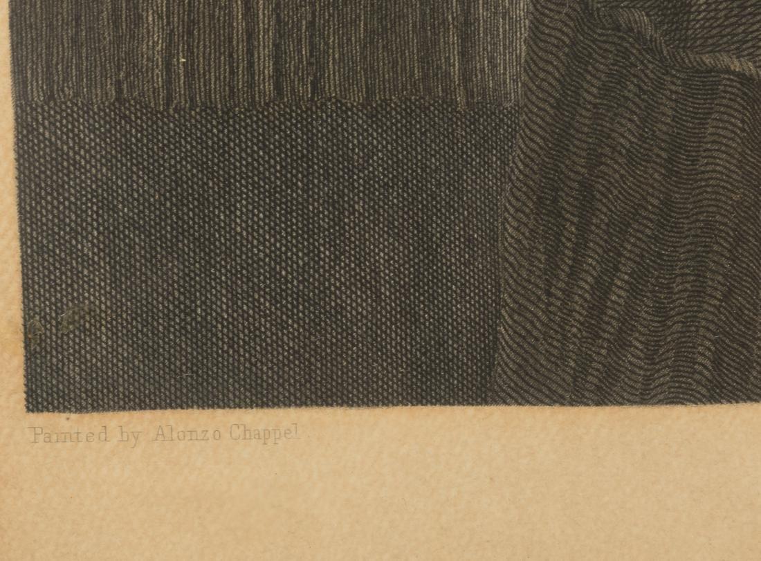 "Hand Color Engraving - ""George Washington at Home"" - 4"