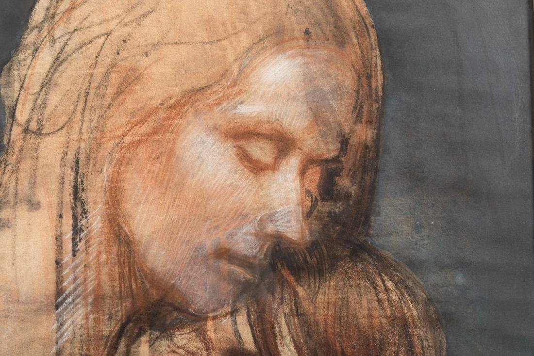 Luciano Guarnieri - Charcoal and Pastel - Signed - 4
