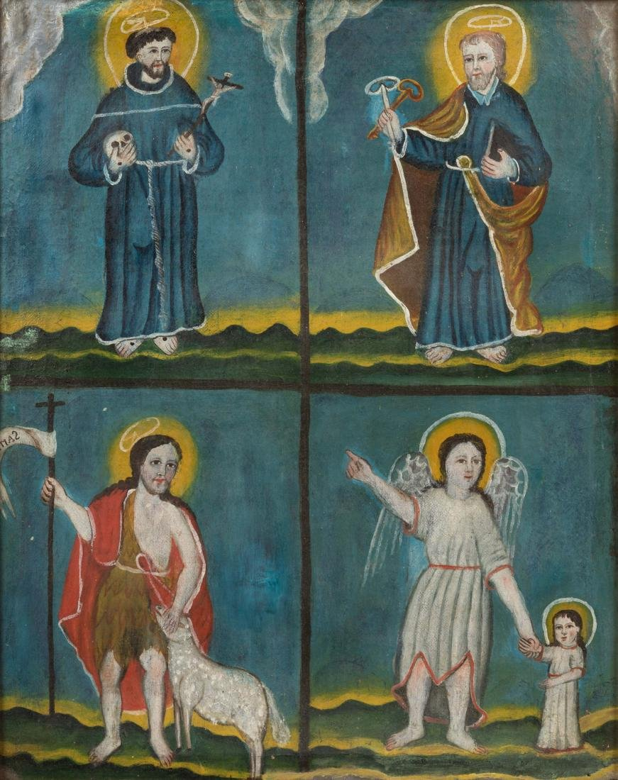 19th C Icon - Oil on Canvas - 2