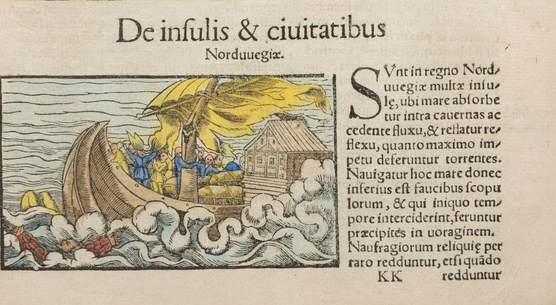 Sebastian Munster - 16th C Hand Colored Book Plate - 4