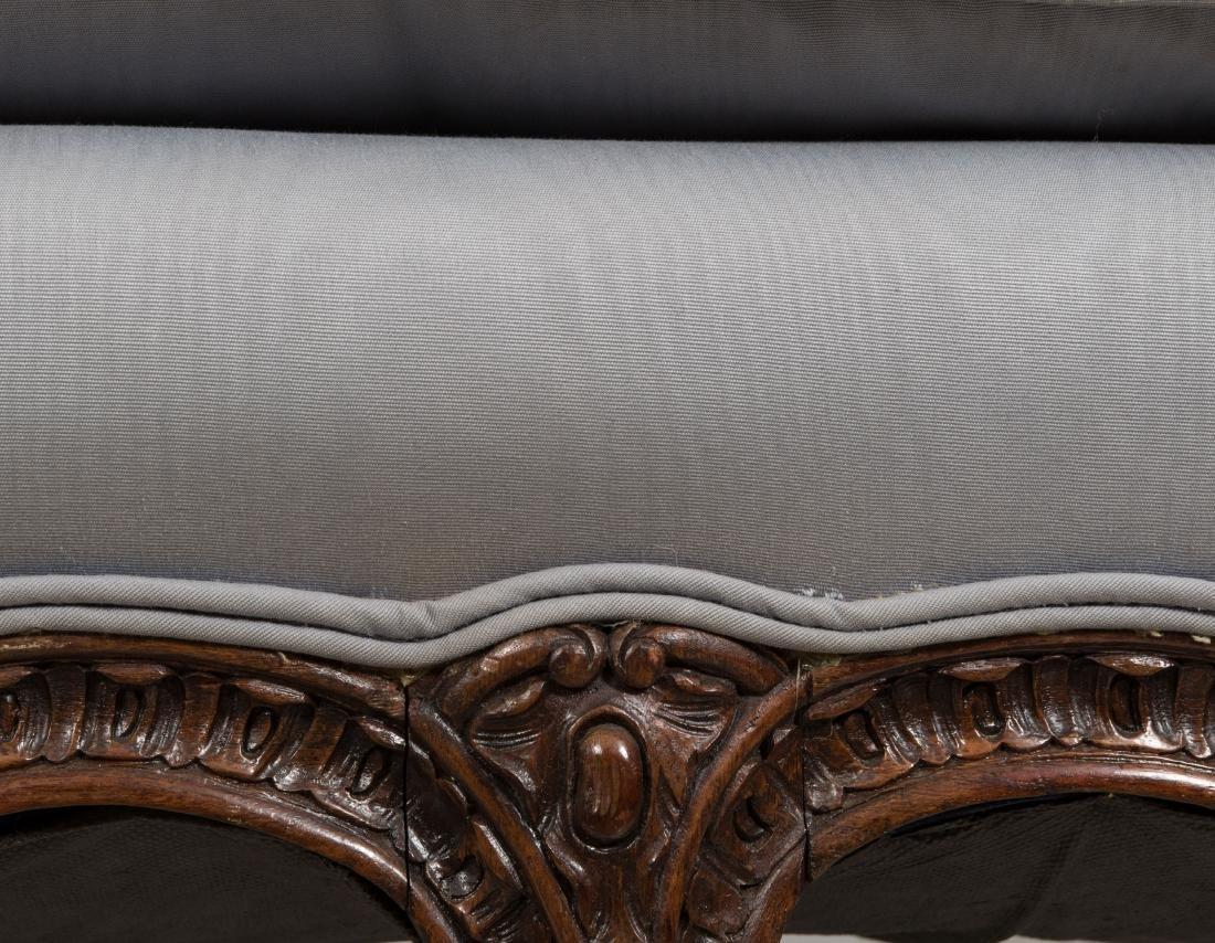 French Style Carved Walnut Sofa - 2