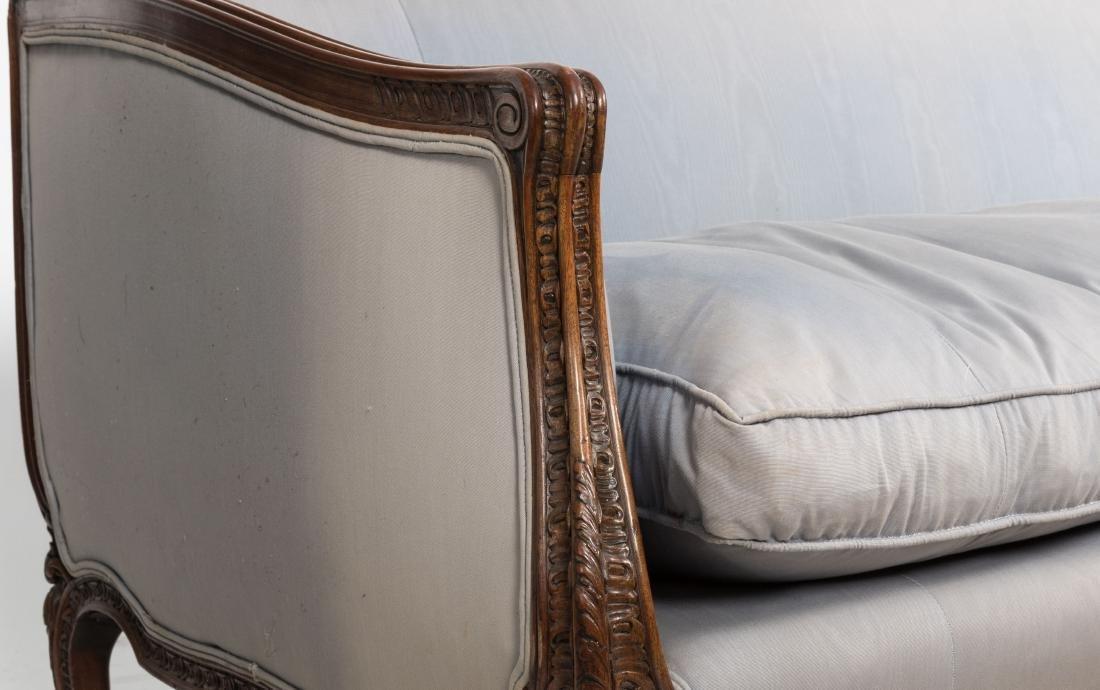 French Style Carved Walnut Sofa - 4