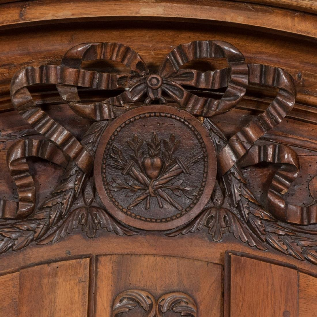 French Provincial Carved Walnut Armoire - 4