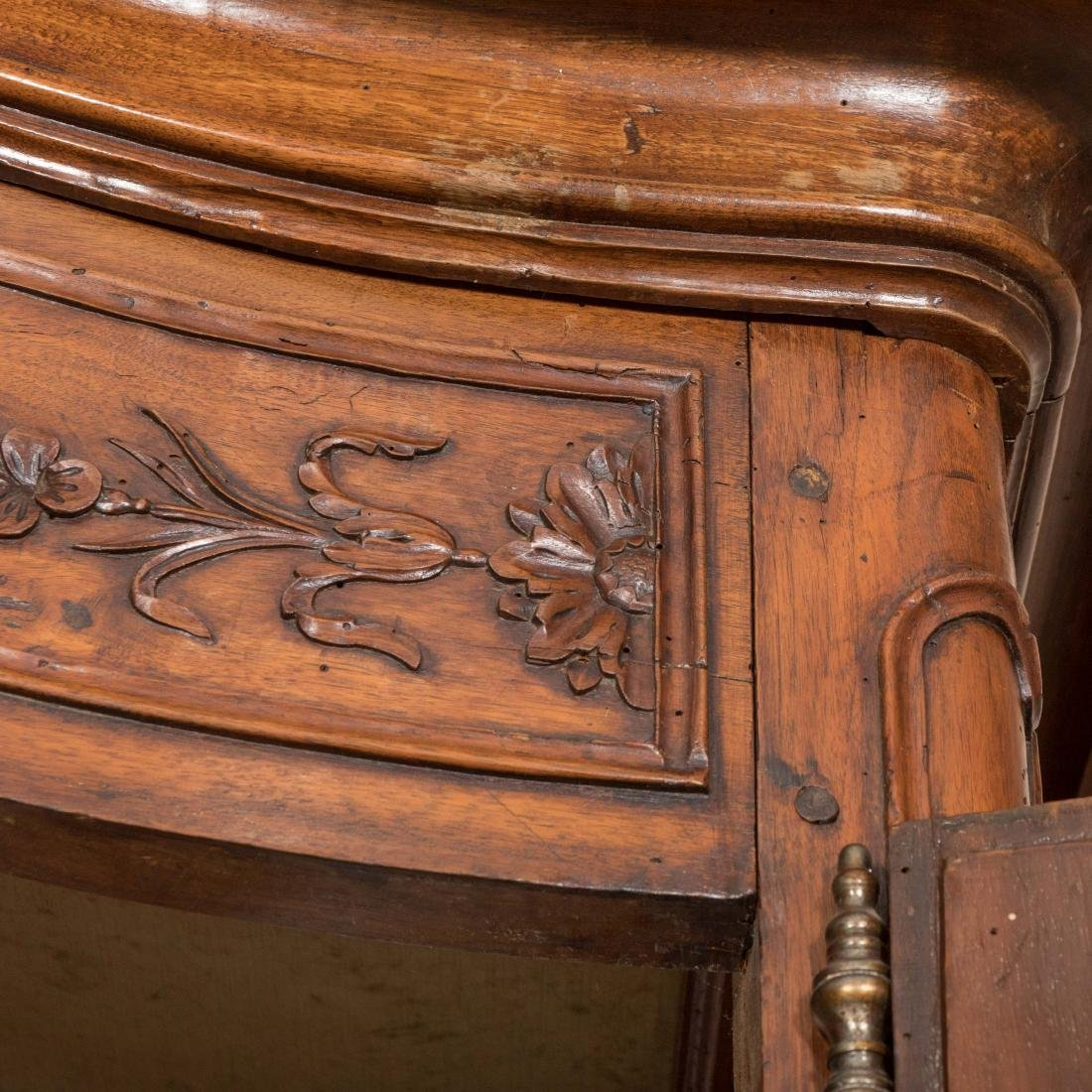 French Provincial Carved Walnut Armoire - 7