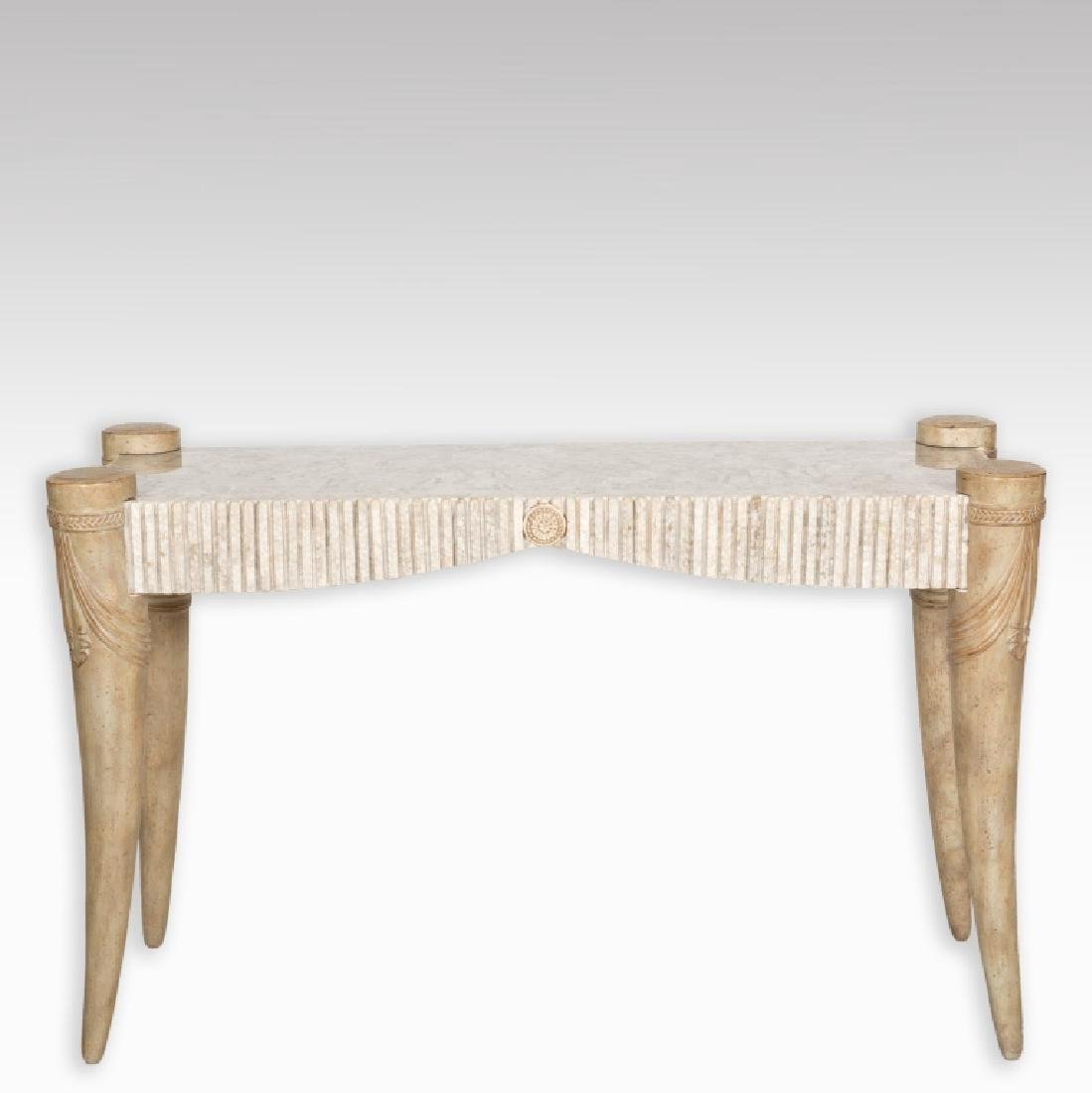 Tessellated Marble Console Table