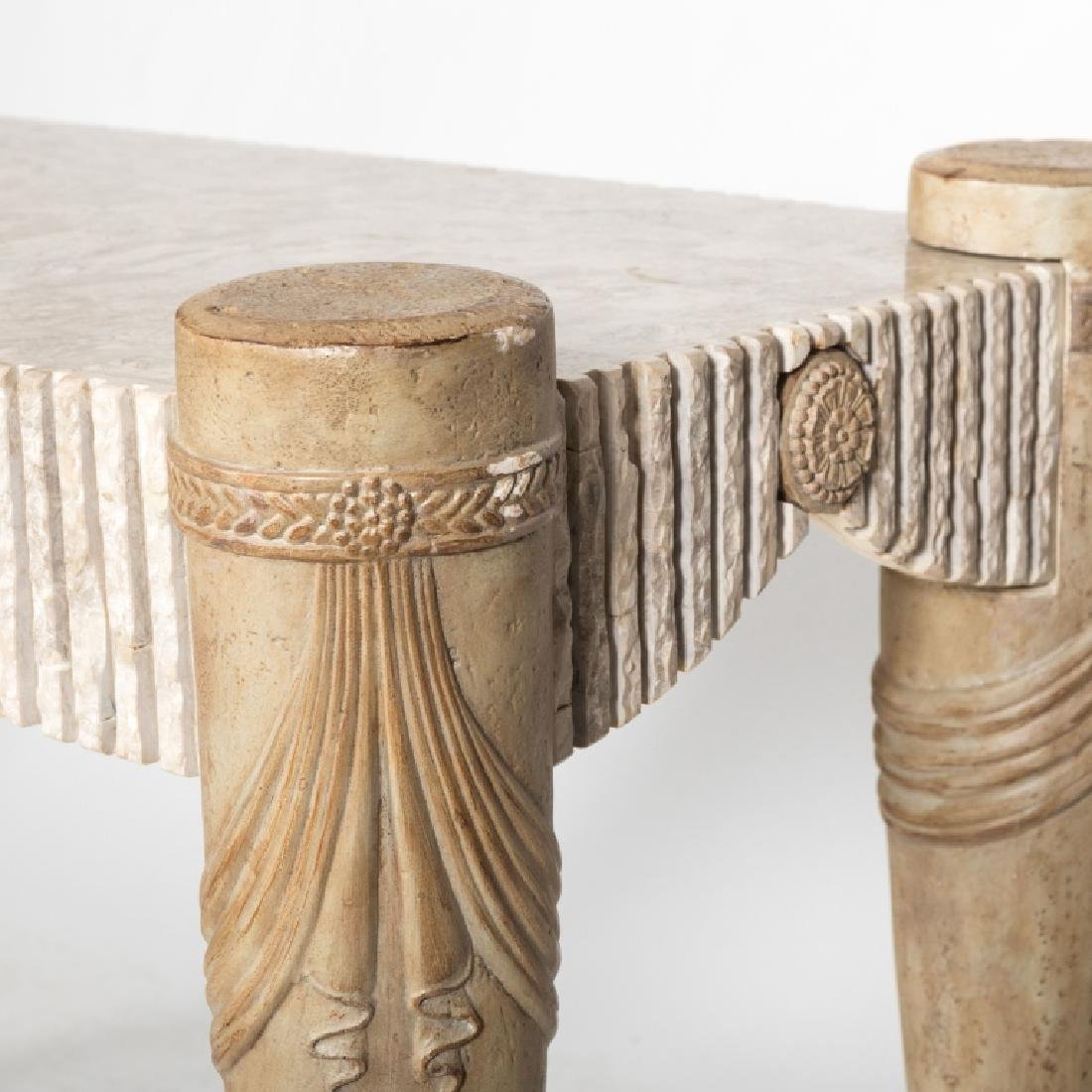 Tessellated Marble Console Table - 2