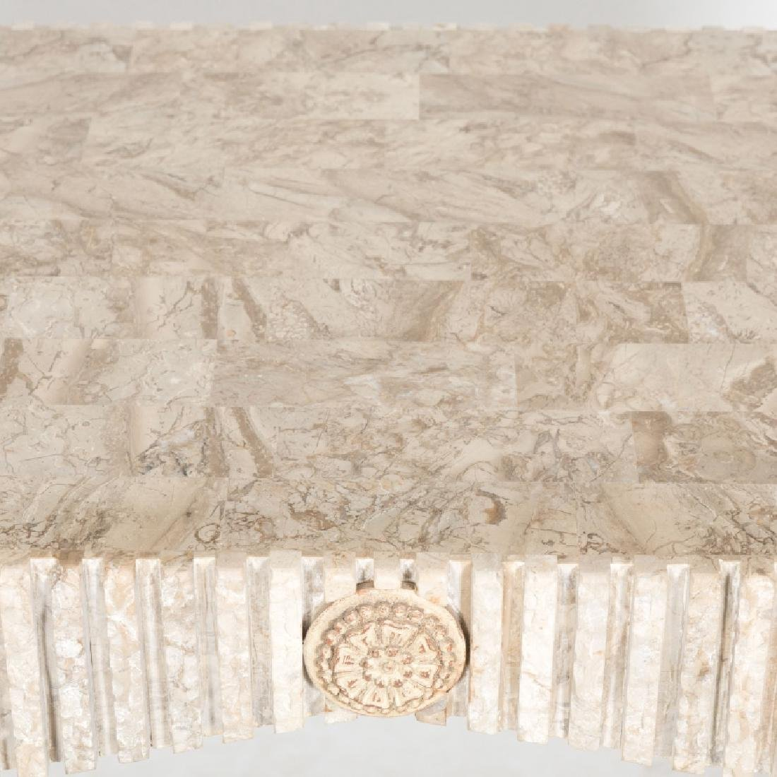 Tessellated Marble Console Table - 3