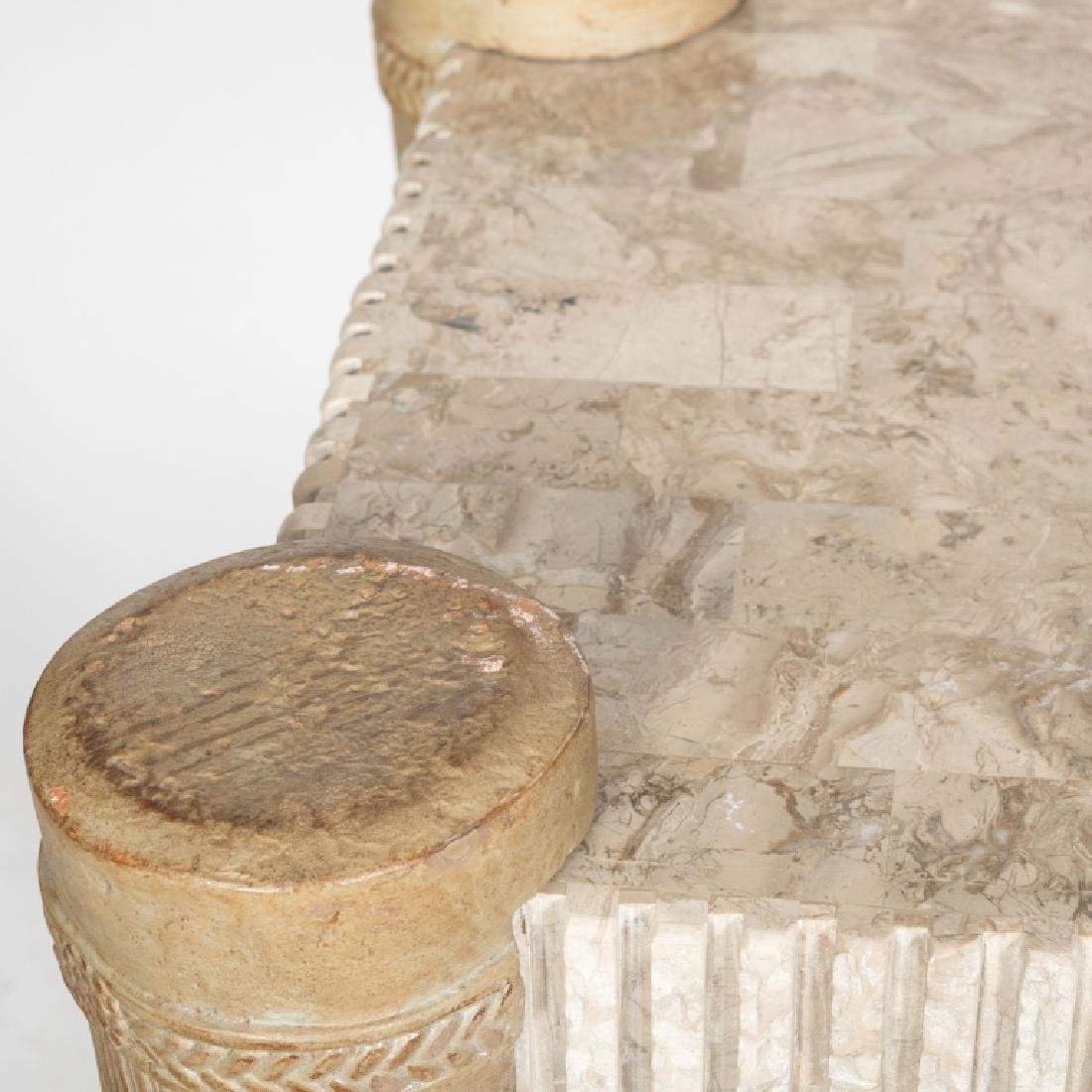 Tessellated Marble Console Table - 4