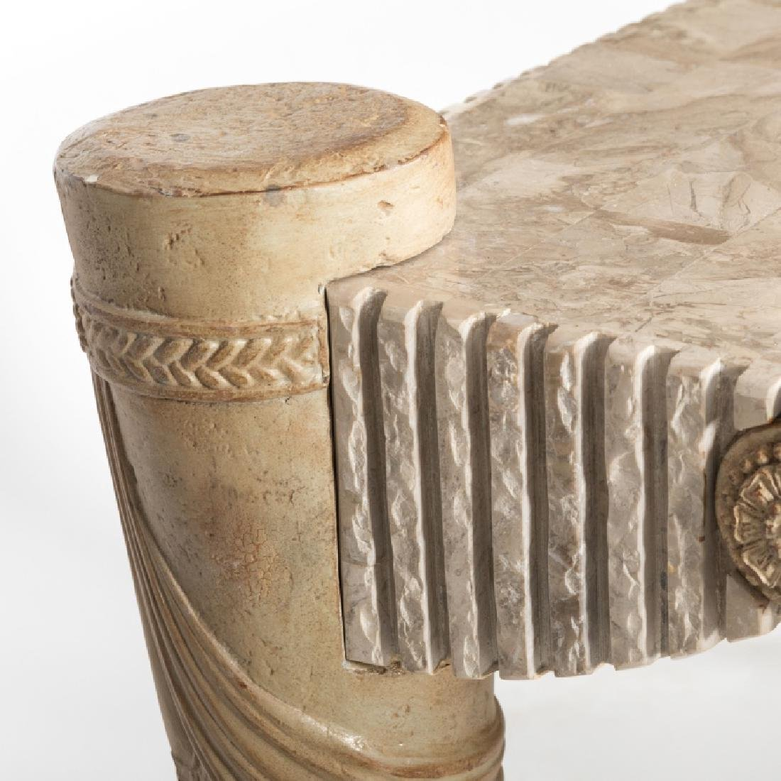 Tessellated Marble Console Table - 5