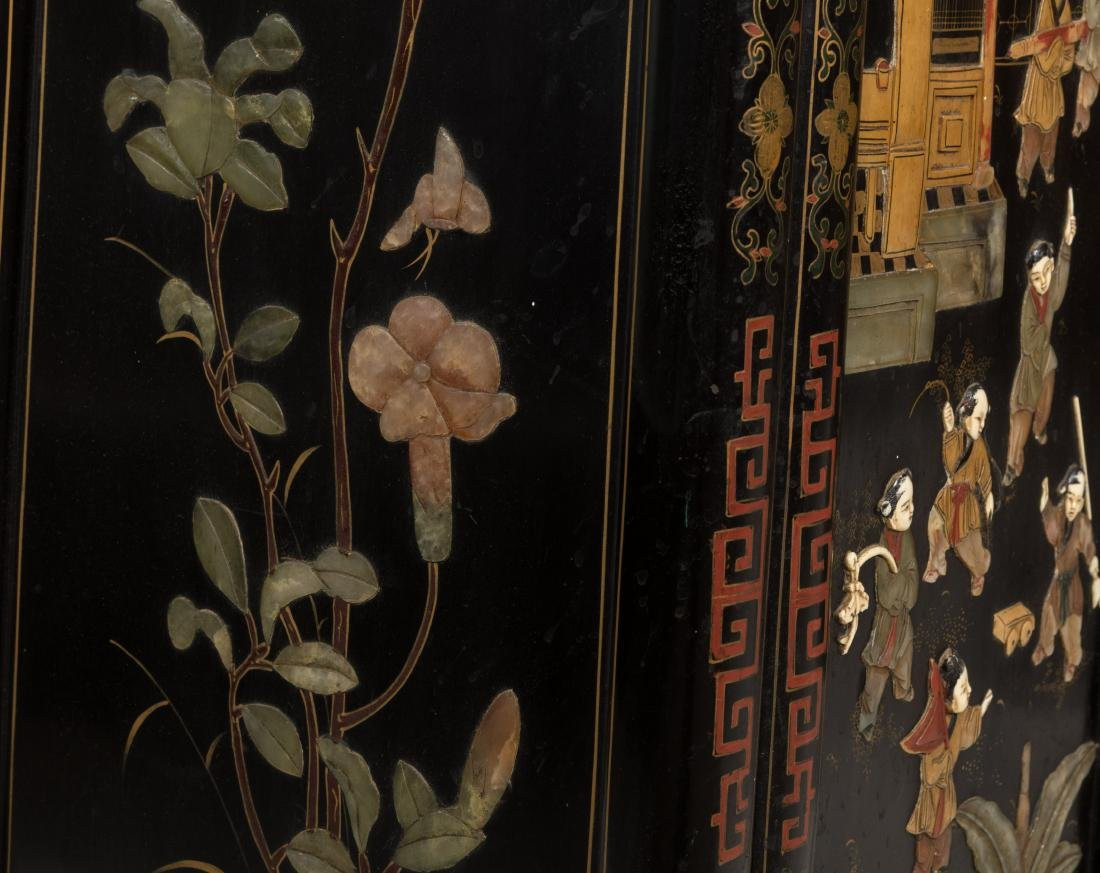 Pair Tapered Chinese LAcquer Cabinets - 3