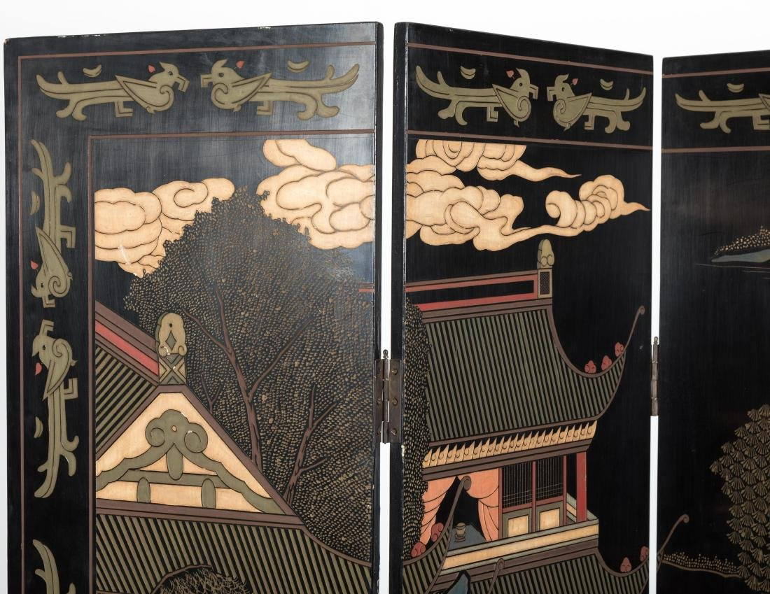 Four Panel Coromandel Screen - 2