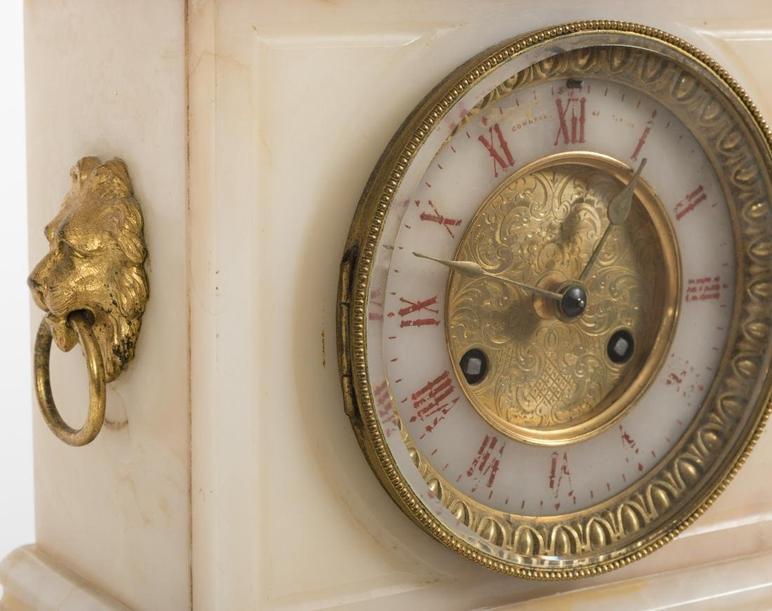 French Onyx and Bronze Mantle Clock - 3