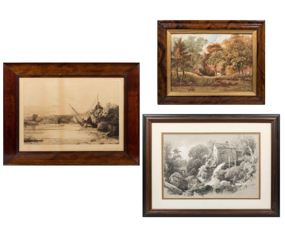 Three Framed Pieces Artwork - Hardin & Millspaugh
