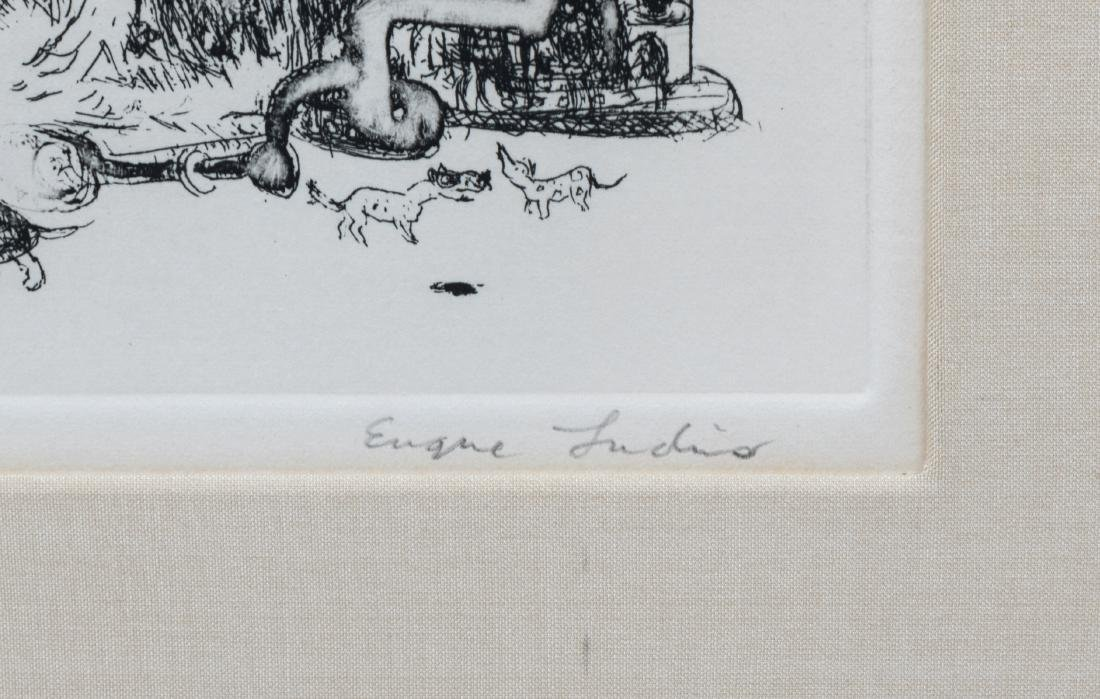 Four Signed Etchings - Plotkin - Ludins - 8