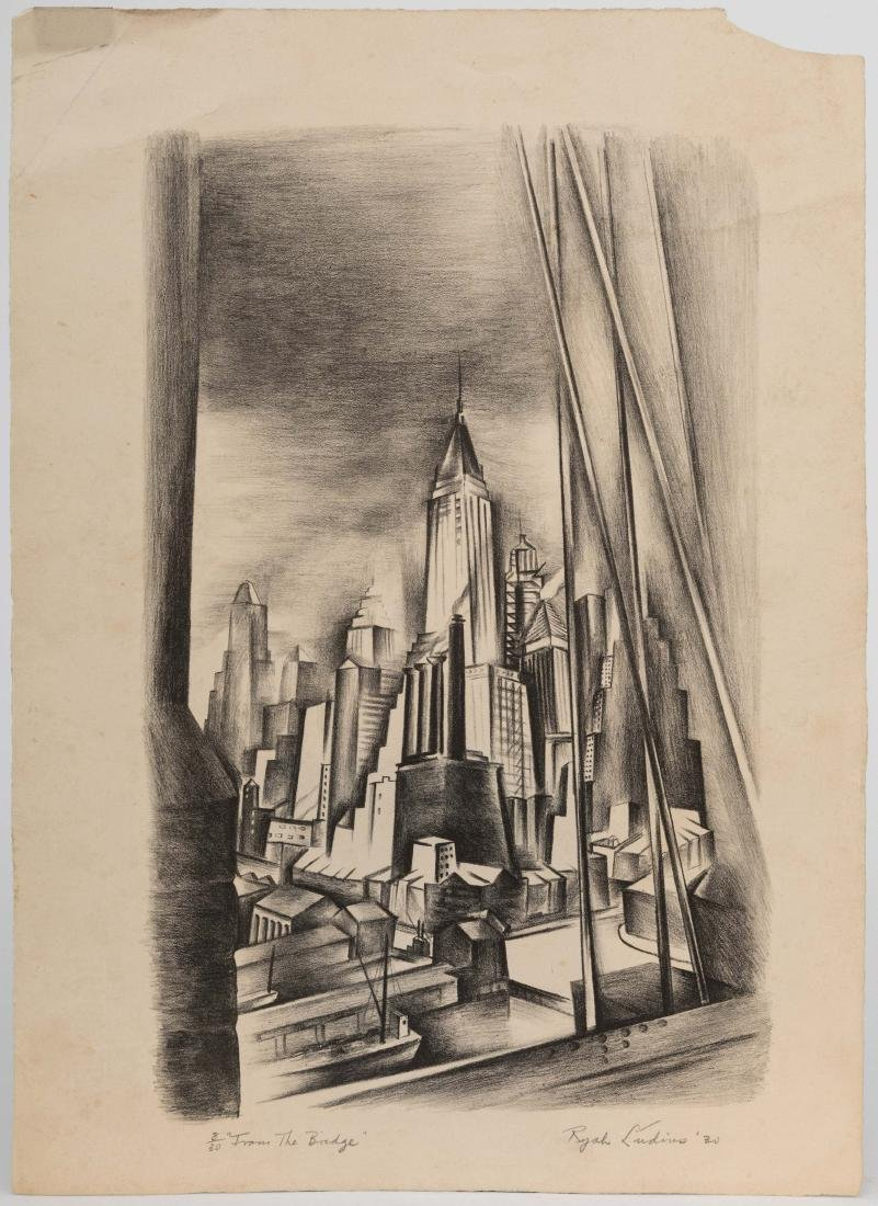 Ryah Ludins - Lithograph - From the Bridge