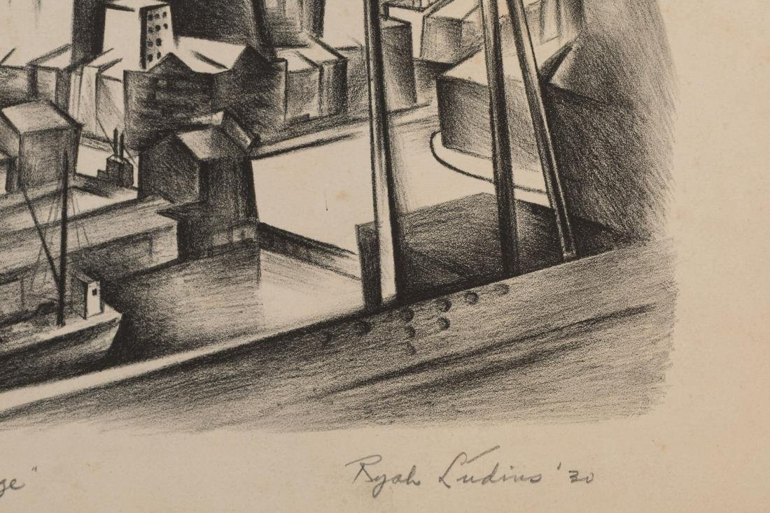 Ryah Ludins - Lithograph - From the Bridge - 3