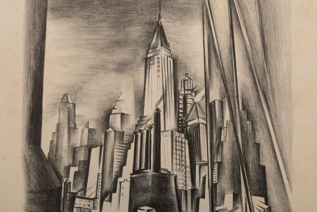 Ryah Ludins - Lithograph - From the Bridge - 4