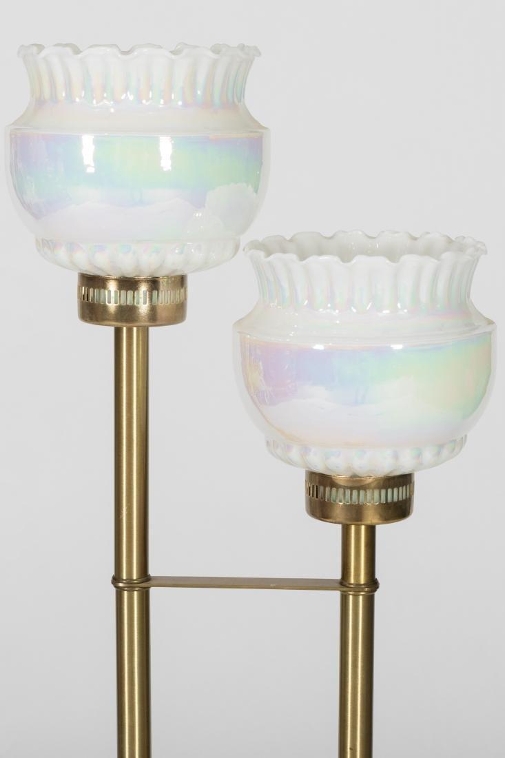 Two Light Brass Floor Lamp - 2