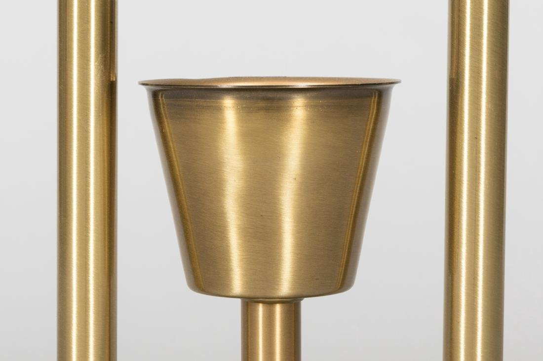 Two Light Brass Floor Lamp - 3