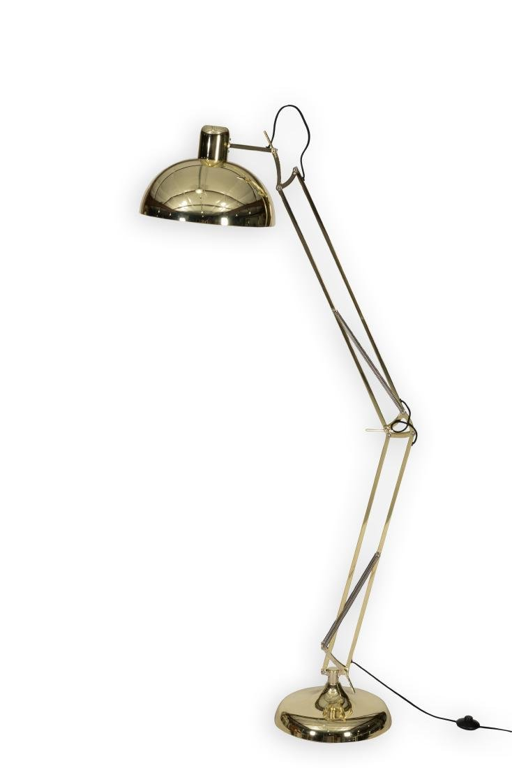 Adjustable Brass Floor Lamp