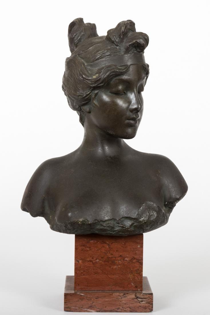 Emmanuel Villanis Bronze Bust