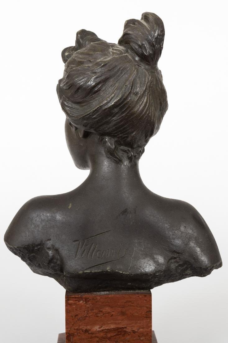 Emmanuel Villanis Bronze Bust - 5