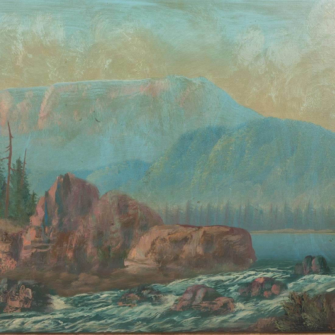 Oil On Board - Landscape - Signed - 2