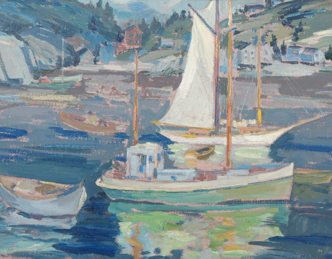 Peter Bela Mayer - Oil on Board - Monhegan, Maine - 2