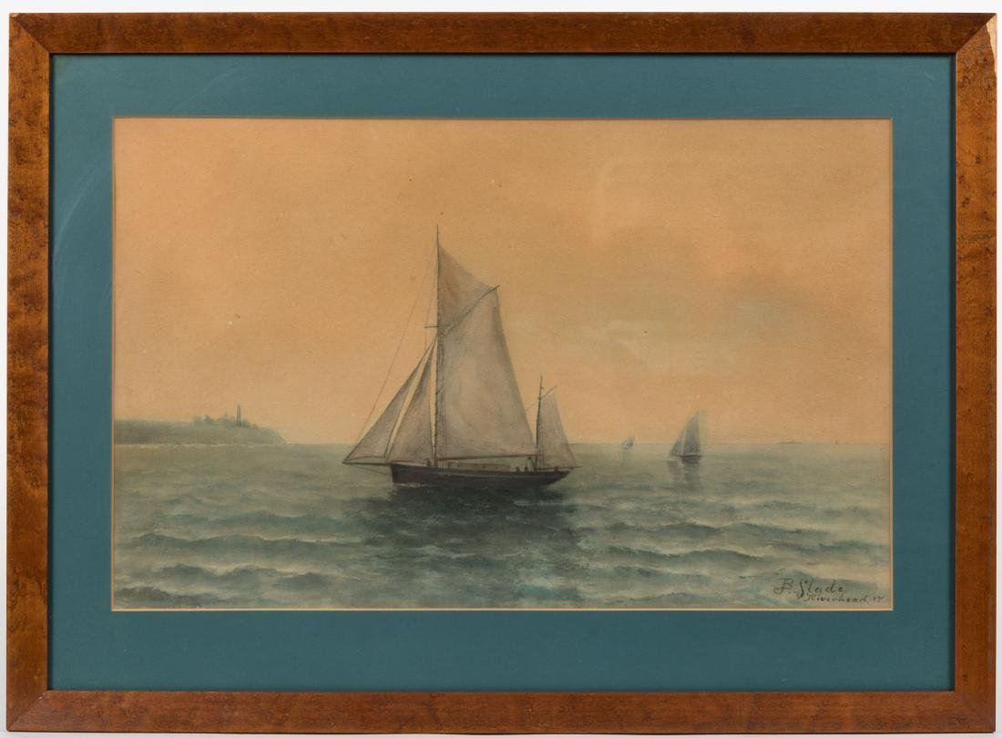 B. Slade - Riverhead, NY - Nautical Watercolor