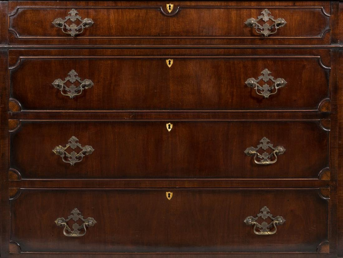 Two Part Carved Mahogany Breakfront - 2