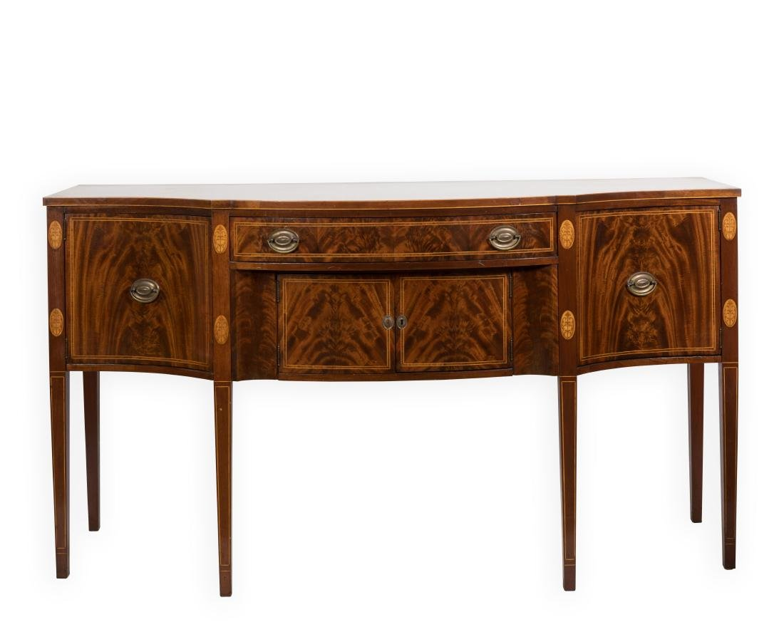 Federal Style Bow Front Sideboard on Legs