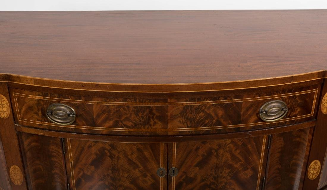 Federal Style Bow Front Sideboard on Legs - 2