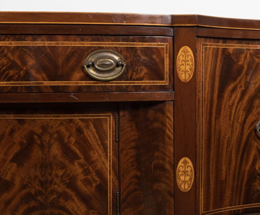 Federal Style Bow Front Sideboard on Legs - 3