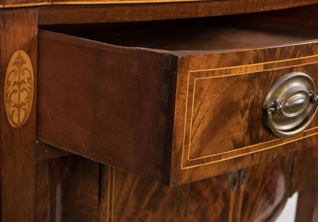 Federal Style Bow Front Sideboard on Legs - 4