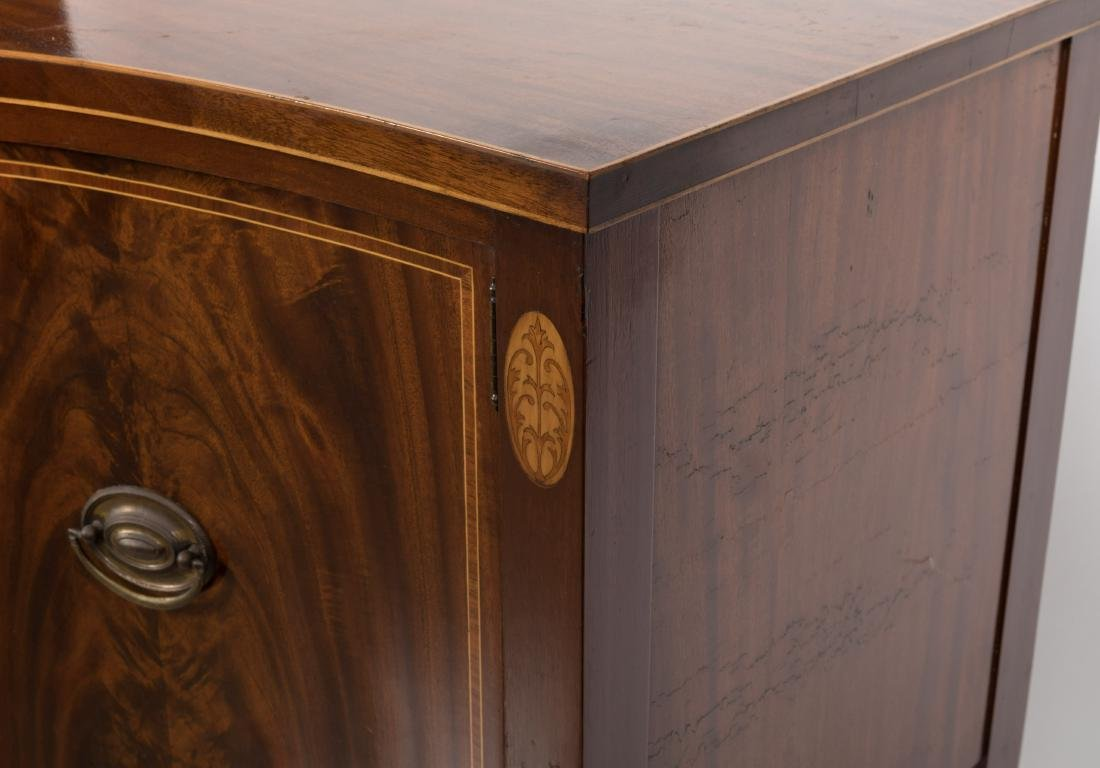 Federal Style Bow Front Sideboard on Legs - 5