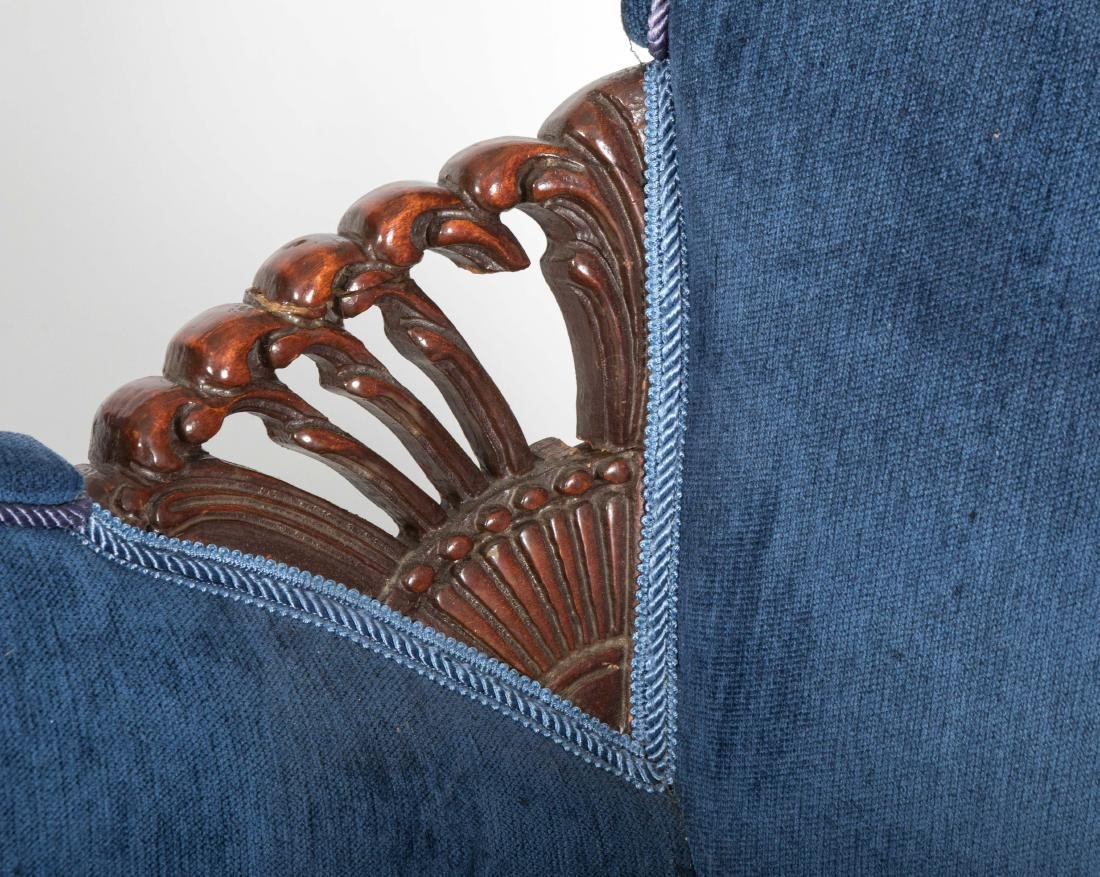 Pair Mahogany Fireside Chairs - 2