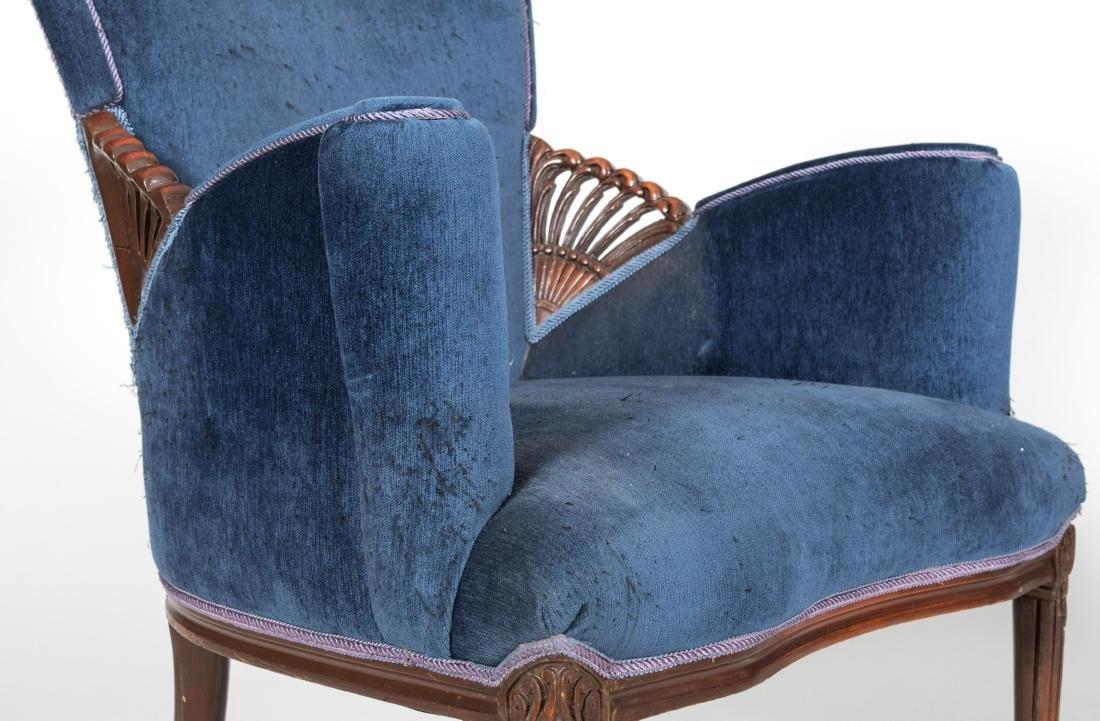 Pair Mahogany Fireside Chairs - 3