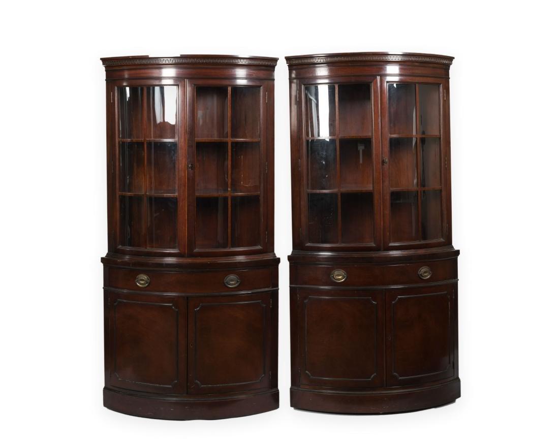 Pair Drexel Travis Court Corner Cabinets