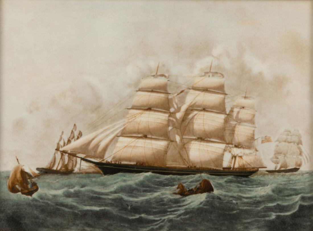 Six Wedgewood Ship Tiles in Birdseye Frames - 2