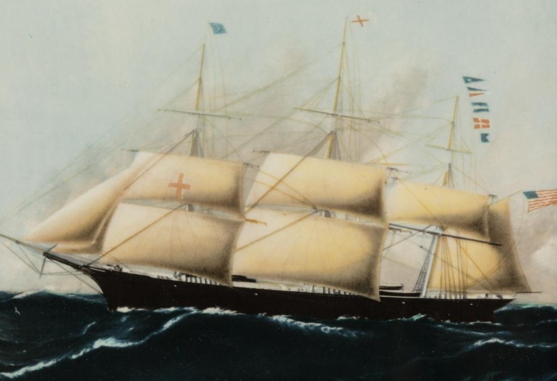 Six Wedgewood Ship Tiles in Birdseye Frames - 3