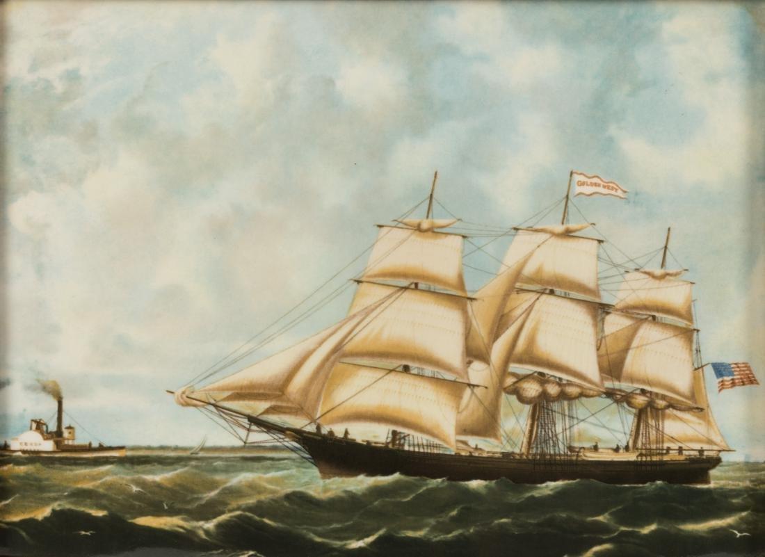 Six Wedgewood Ship Tiles in Birdseye Frames - 4