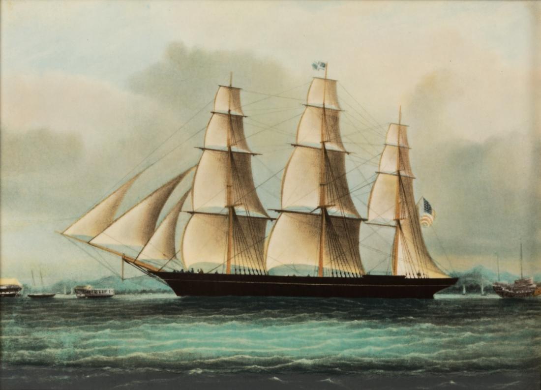 Six Wedgewood Ship Tiles in Birdseye Frames - 5