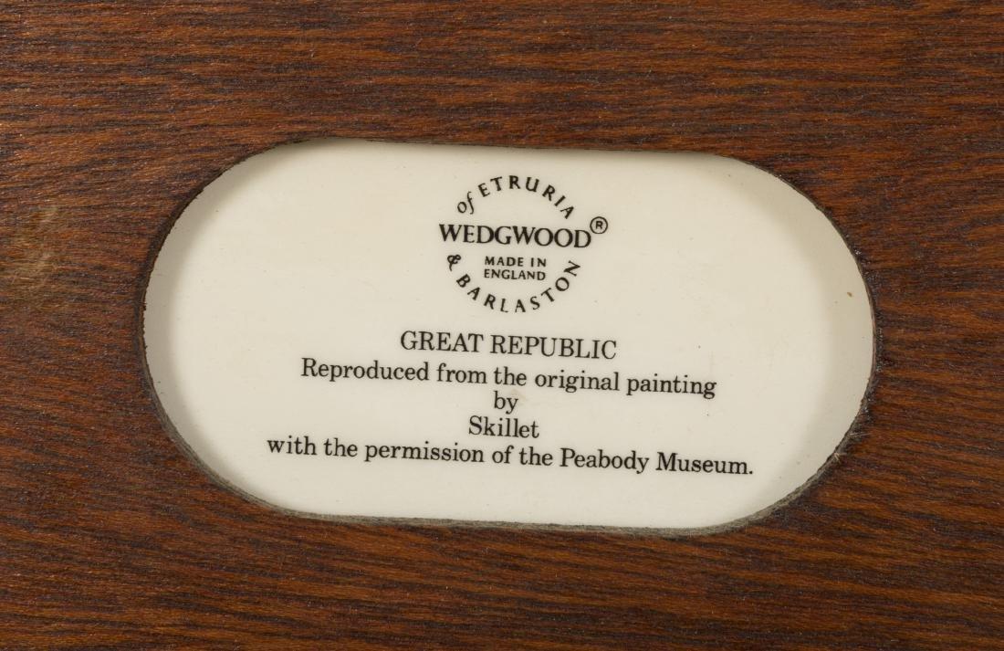 Six Wedgewood Ship Tiles in Birdseye Frames - 6