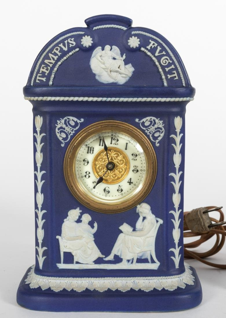 Wedgewood Lamp, Clock and Pen Holder - 3