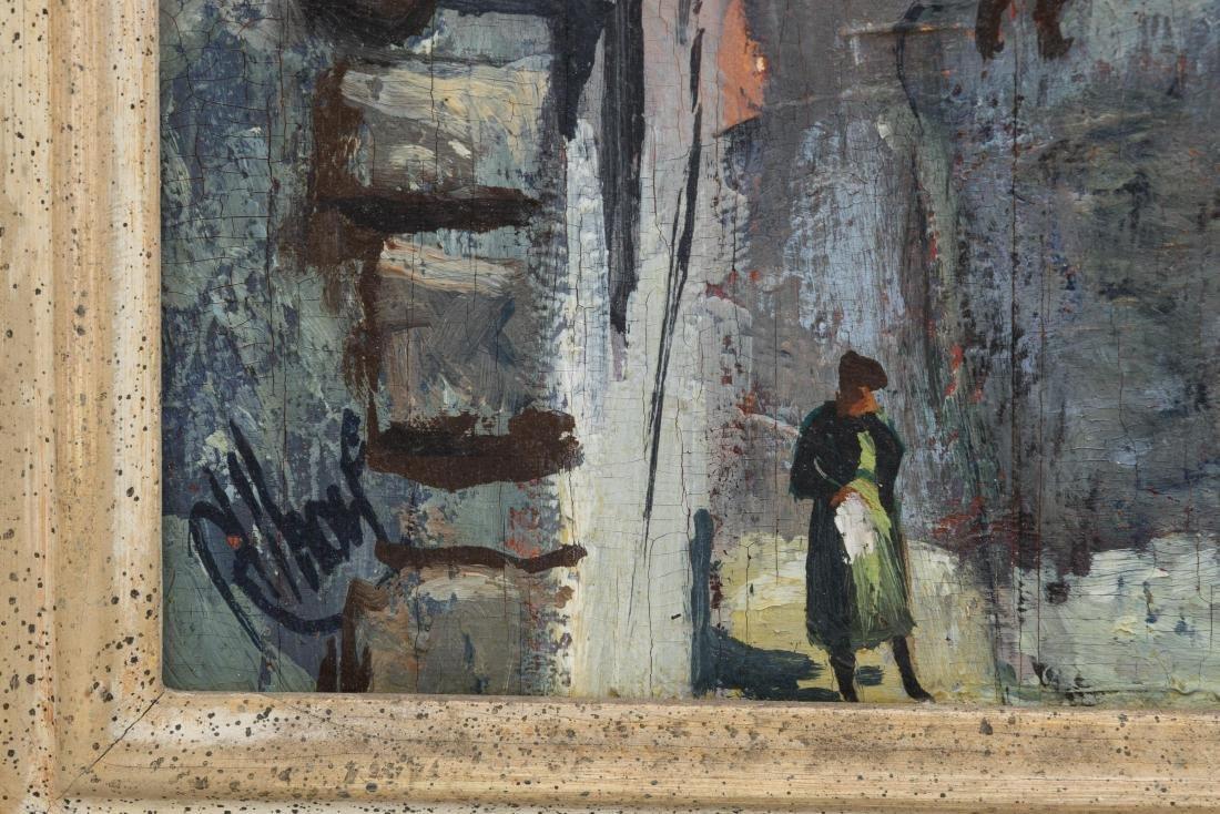 Richard Whorf - Oil on Board - Parisian Street - 3